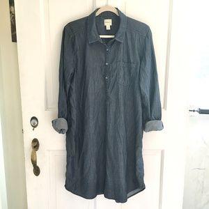 G.H.BASS&CO. Pop-over Chambray ShirtDress SZ XL